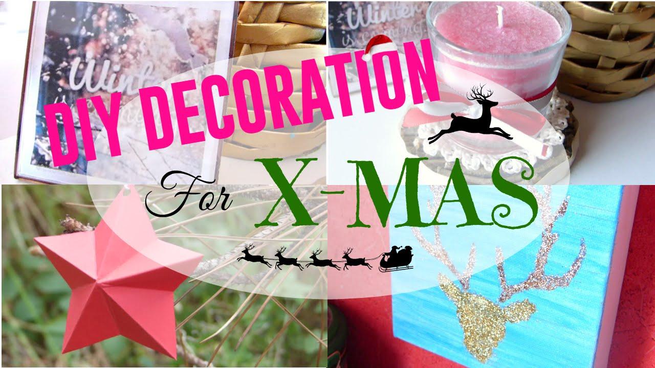 Christmas diy 5 diy d coration de no l youtube for Youtube decoration de noel