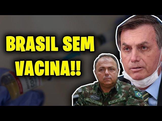 BRASIL PODE FICAR 40 DIAS SEM VACINA GRAÇAS A BOLSONARO