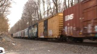 Tuesday 15th Railfanning, Part 2: Norfolk Southern 39G w/UP Leader - Gladwyne, PA