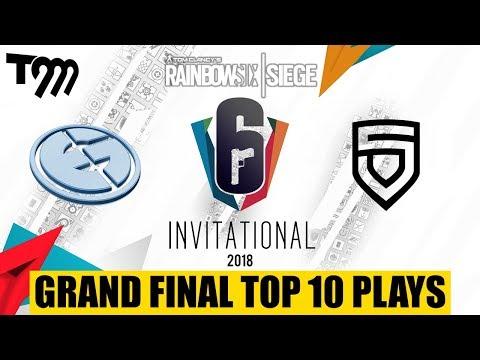 GRAND FINAL TOP 10 PLAYS - Rainbow Six Siege: Six Invitational 2018 (BEST GAME EVER)