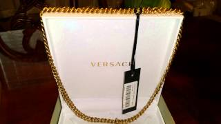 VERSACE necklace UNBOXING  how to spot a fake one