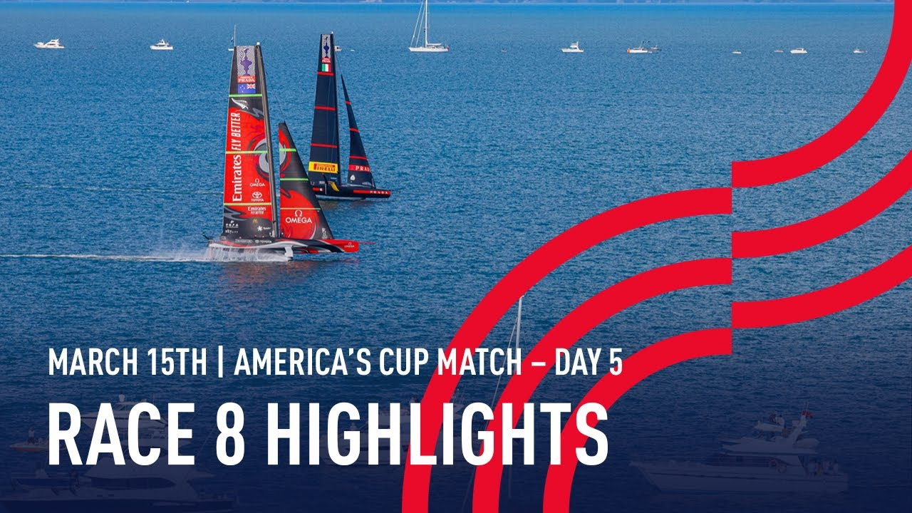 36th America's Cup Race 8 Highlights