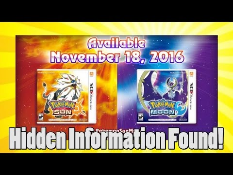 Pokemon Sun And Moon Location, New Starters, And Time Line Revealed