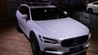 2017 Volvo V90 Cross country T6   Detroit Auto Show   Walkthough