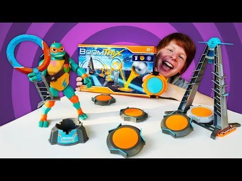 Черепашки ниндзя - новые приключения. Игровой набор Boomtrix. Шоу Hey, toys!