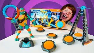 Черепашки ниндзя и новые игрушки Игровой набор Boomtrix детям Шоу Hey toys