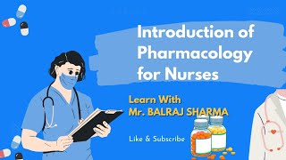 INTRODUCTION OF PHARMACOLOGY IN HINDI MYNURSING ACADEMY
