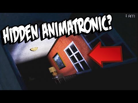 Five Nights at Freddy's 4: HIDDEN ANIMATRONIC Found In Right Hallway?! ITS CHICAS REFLECTION!