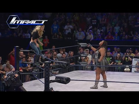 Taryn Terrell Tries to Stop Awesome Kong