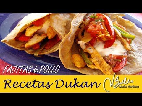 Fajitas Dukan de Pollo sin Salvado (fase Crucero) / Diet Chicken Fajitas