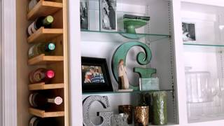 DIY Cabinet Wine Rack Design