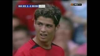 Дебют Криштиану Роналду в Манчестер Юнайтед