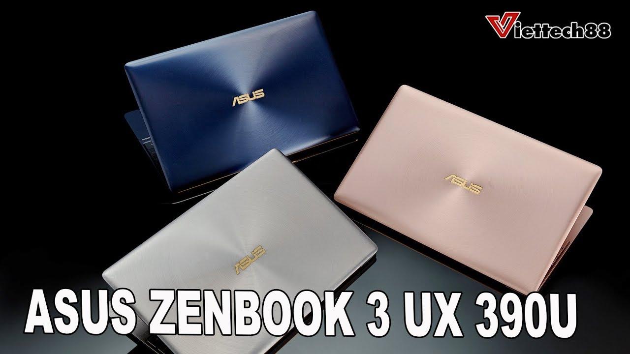 Laptop văn phòng cao cấp SIÊU mỏng nhẹ : Asus Zenbook UX390