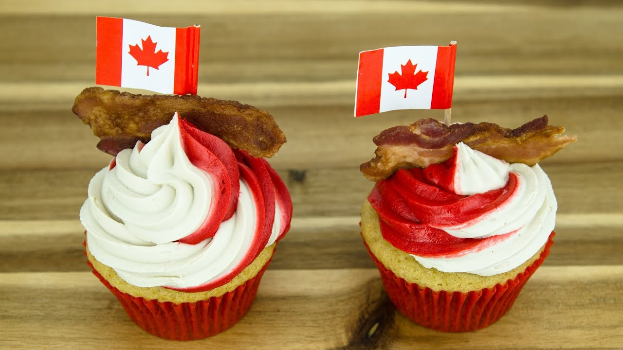 Maple Bacon Cupcakes (Canada Day Cupcakes) By Cookies