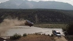 Cars Totaled Crashing Off a Cliff, Everyone Survives!  Crazy Alaskan Car Launch