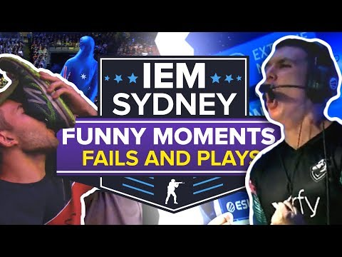 IEM Sydney: Best Funny Moments, Plays, Crowd Reactions And Fails (CS:GO)