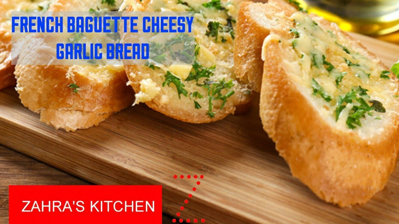 French Baguette Cheesy Garlic Bread - YouTube