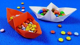 Оригами.Потрясающая коробочка-лодочка для мелочей. Поделки из бумаги своими руками.