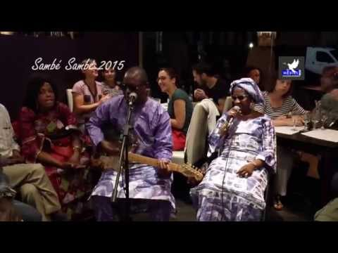 Amadou et Mariam font le Sambé Sambé au restau Yan Kadi à Montreuil