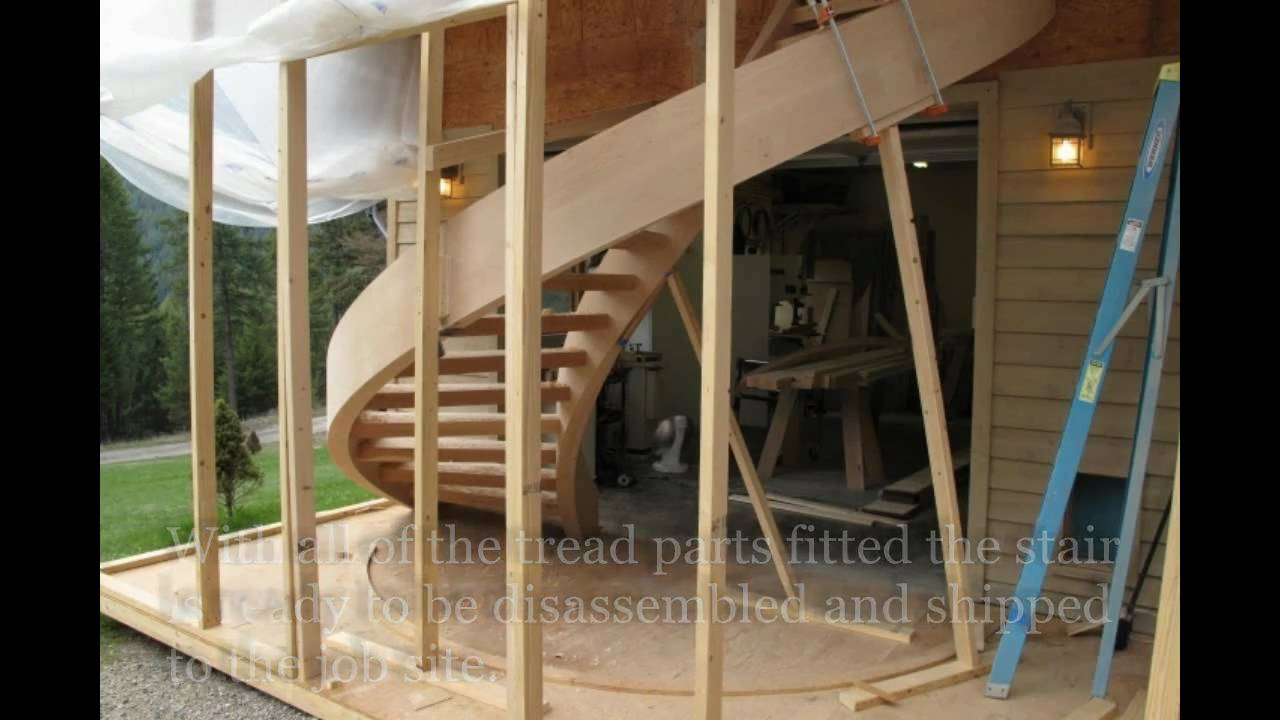 Custom Spiral Staircases By Zane Smith Youtube   Building A Curved Staircase   Indoor   36 Inch Diameter   Garage   Circular   Outside