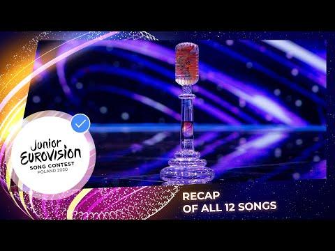 Recap of all 12 songs - Junior Eurovision 2020