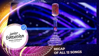 Recap of all 12 songs - Junior Eurovision 2020