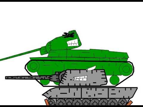 обстрел - мультики про танки (пробный мульт)