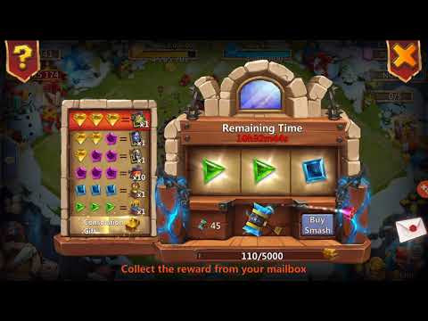 Rolling 20k Gems On THUNDER GODS HAMMER Castle Clash!!!