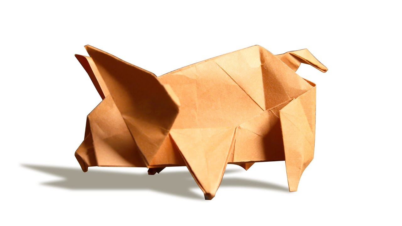3d origami pig diy learn origami how to make easy origami 3d origami pig diy learn origami how to make easy origami pig youtube pooptronica