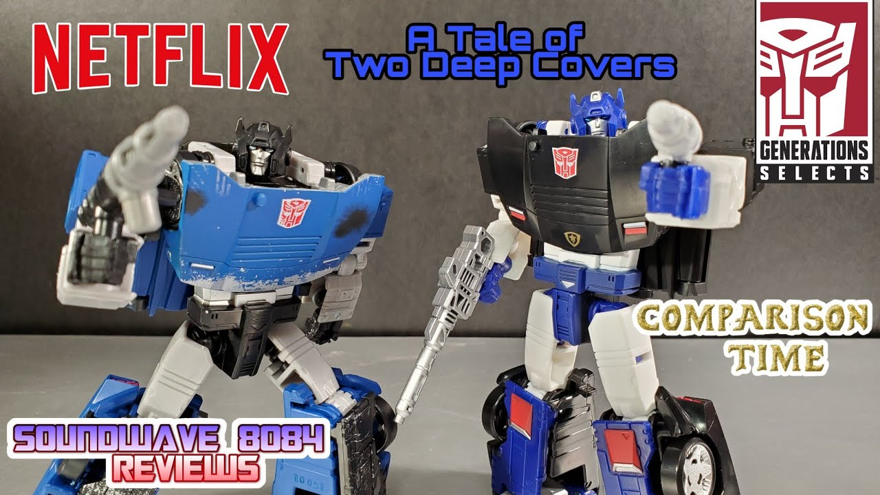 Transformers Netflix & Generations Selects Deep Cover Comparison Review by Soundwave 8084