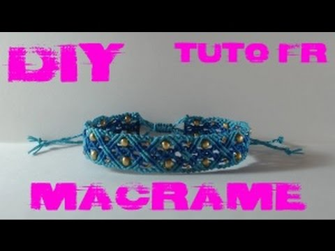 diy tuto fr bracelet oc an en macram youtube. Black Bedroom Furniture Sets. Home Design Ideas