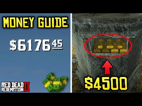 Red Dead Redemption 2 - MONEY GUIDE! How To Get $4500 EASY + Best Ways To Make Money!