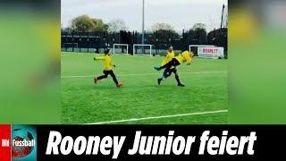 Rooney Junior feiert besser als der Papa | Kai Rooney zwirbelt Fußball ins Tor