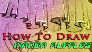 How to draw flowy Ruffles 2 ways #artisthack #hack