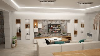 Diseño de interiores arquitectura Proyecto - Render y Obra