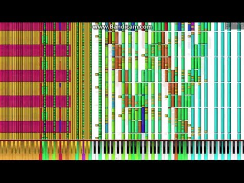 [Black MIDI] Bad Apple!! Extended 489,000 Notes (489k) (merged By CBMT)
