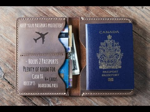 Leather Travel Wallet for your Passport #021 by JooJoobs