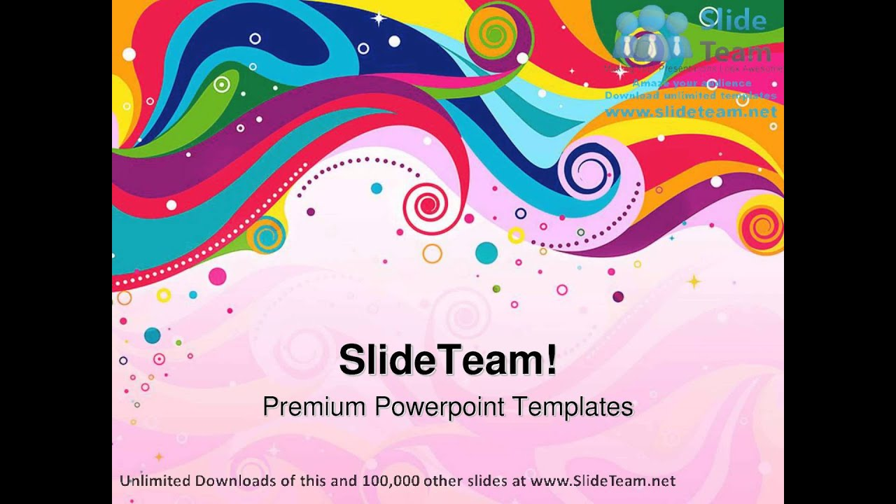 colorful wave abstract powerpoint templates themes and backgrounds, Modern powerpoint