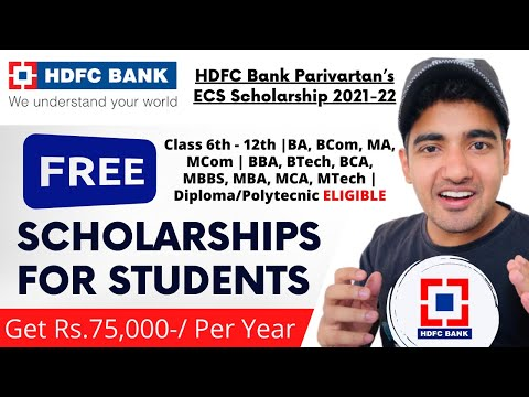 HDFC Free Scholarship 2021 | All Students Eligible | Free Scholarship 75000 Per Year #TrickyMan