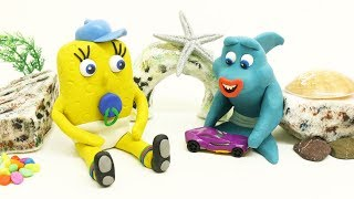 SUPERHEROES BABIES LEARN TO SHARE TOYS - Play & Clay Animation Cartoons For Kids