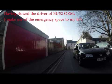 Driven at by BU52 OZM on my side of the road