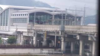 JR九州・新八代駅・特急リレーつばめ アプローチ線を上る車窓風景
