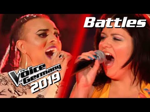 Queen - Don't Stop Me Now (Oxa Vs. Sabina Noronha)   The Voice Of Germany 2019   Battles