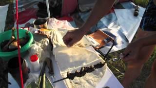 На озере Белё,шашлык из говядины