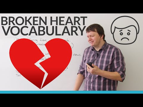 English Vocabulary: Talking about ♥ broken hearts 💔