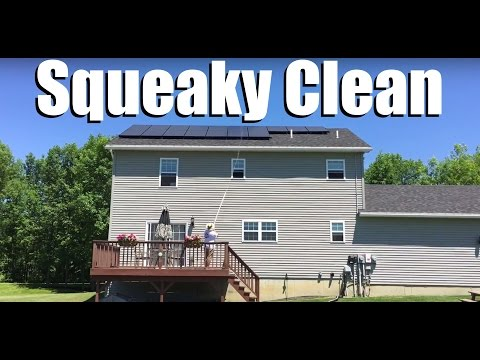 Cleaning Roof Solar Panels - DIY Setup