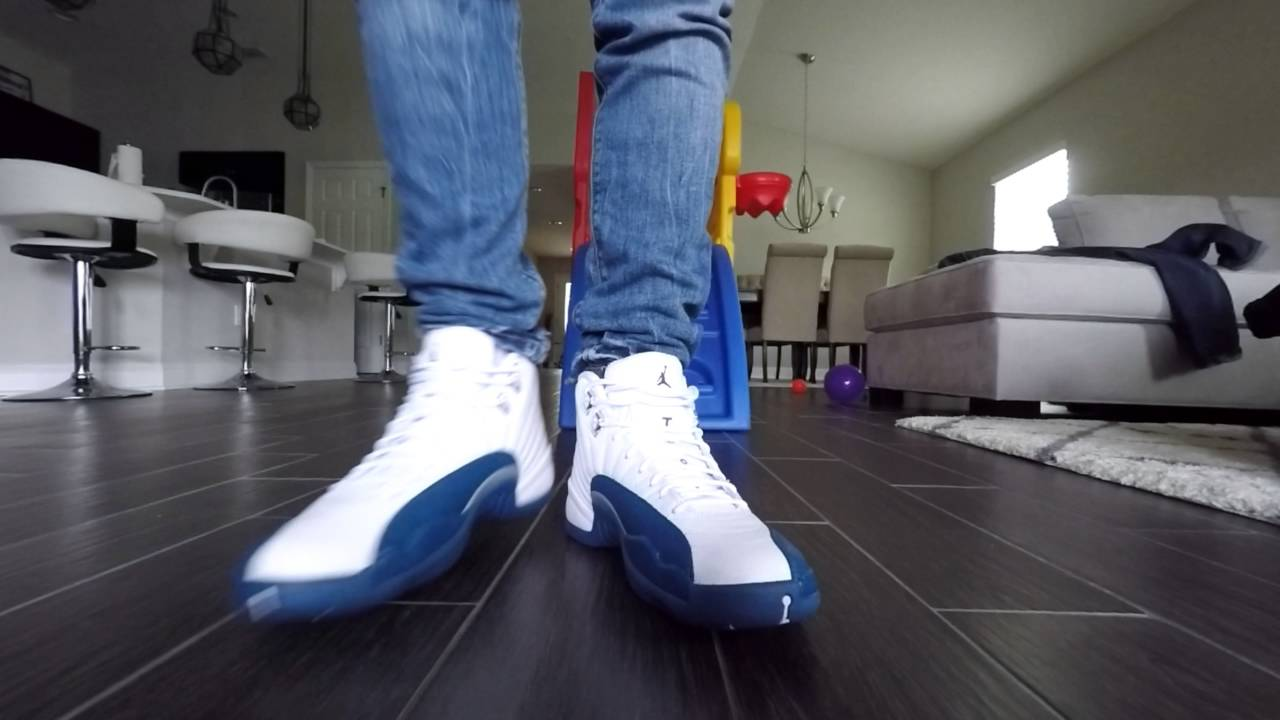 796557fd18eb Air Jordan French Blue 12 Review with On Feet - YouTube