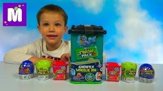 Відкриваємо величезний контейнер Треш Пек і два сміттєвих відра і унітазу з іграшками Trash Pack