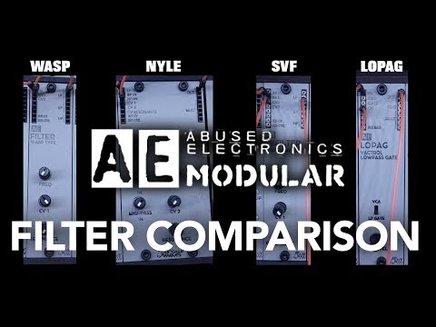 AE Modular Lowpass Filter Comparison (No Talking Synth Demo) #TTNM