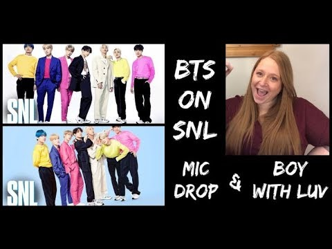 Reacting to BTS (방탄소년단) on SNL - Mic Drop and Boy With Luv